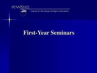 First-Year Seminars