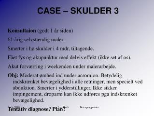 CASE – SKULDER 3