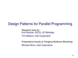 Design Patterns for Parallel Programming