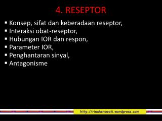 4 .  RESEPTOR
