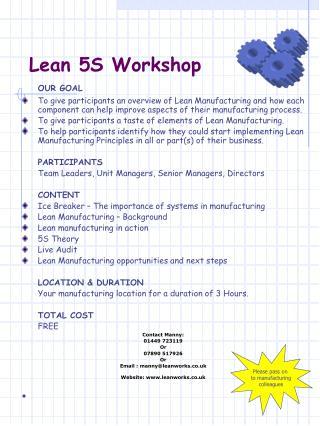 Lean 5S Workshop