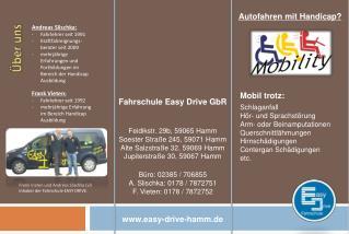 Frank Vieten und Andreas Slischka (vl) Inhaber der Fahrschule EASY DRIVE.
