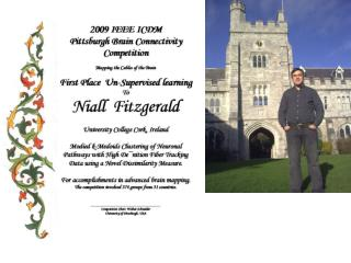 Niall Fitzgerald In June completed Ph.D. in Applied Statistics from University College Cork