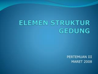 ELEMEN STRUKTUR GEDUNG