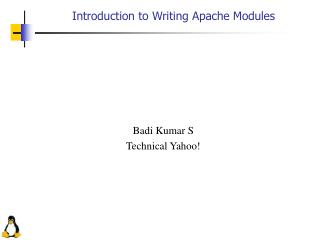 Introduction to Writing Apache Modules