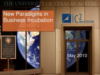 New Paradigms in Business Incubation