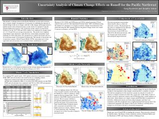 Uncertainty Analysis of Climate Change Effects on Runoff for the Pacific Northwest