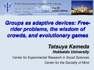 Groups as adaptive devices: Free-rider problems, the wisdom of crowds, and evolutionary games