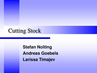 Cutting Stock