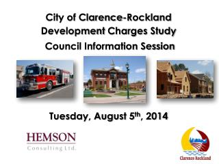 City of Clarence-Rockland Development  Charges Study  Council Information Session