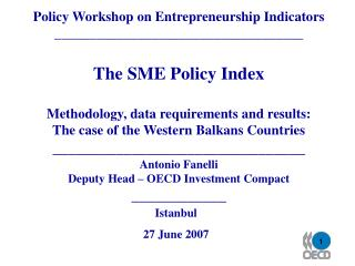 Policy Workshop on Entrepreneurship Indicators ____________________________________