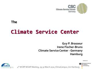 The Climate Service Center
