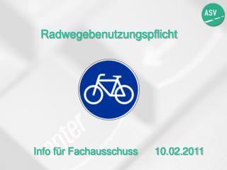 Radwegebenutzungspflicht