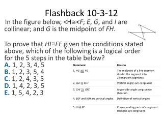 Flashback  10-3-12