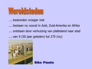 Wereldsteden