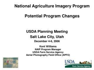 National Agriculture Imagery Program Potential Program Changes