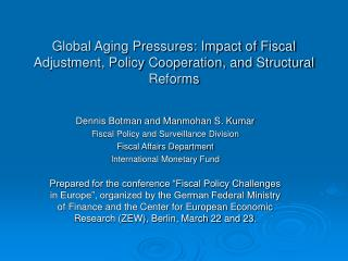 Global Aging Pressures: Impact of Fiscal Adjustment, Policy Cooperation, and Structural Reforms
