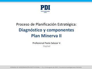 Proceso de Planificación Estratégica: Diagnóstico y componentes  Plan Minerva II