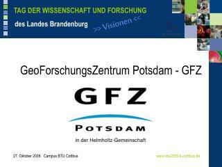 GeoForschungsZentrum Potsdam - GFZ