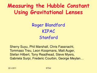 Measuring the Hubble Constant                  Using Gravitational Lenses