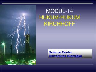MODUL-14 HUKUM-HUKUM KIRCHHOFF