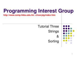 Programming Interest Group comp.hkbu.hk