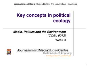 Key concepts in political ecology
