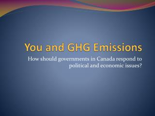 You and GHG Emissions