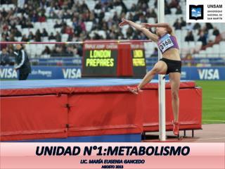 Unidad n°1:Metabolismo Lic. María Eugenia Gancedo  Agosto 2013