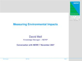 Measuring Environmental Impacts