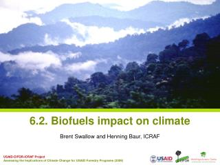6.2.  Biofuels  impact  on climate