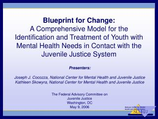 Blueprint for Change: A Comprehensive Model for the Identification and Treatment of Youth with Mental Health Needs in Co