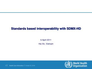 Standards based interoperability with SDMX-HD