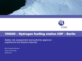 100020 – Hydrogen fuelling station CEP – Berlin