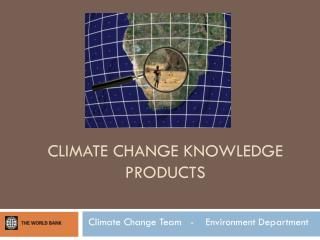 Climate Change Knowledge Products