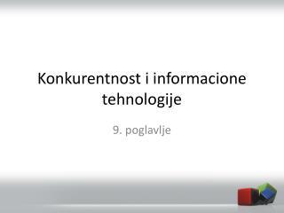 Konkurentnost i informacione tehnologije