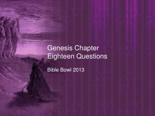 Genesis Chapter Eighteen  Questions