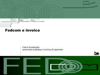 Fedcom e invoice