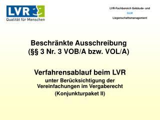 LVR-Fachbereich Gebäude- und  GLM Liegenschaftsmanagement