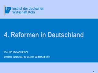 4. Reformen in Deutschland