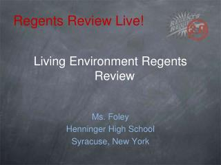 Regents Review Live!