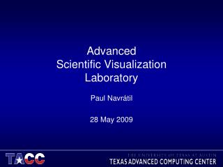 Advanced Scientific Visualization Laboratory