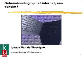Geheimhouding op het internet, een geheim?
