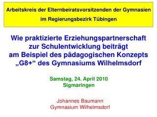 Arbeitskreis der Elternbeiratsvorsitzenden der Gymnasien im Regierungsbezirk Tübingen