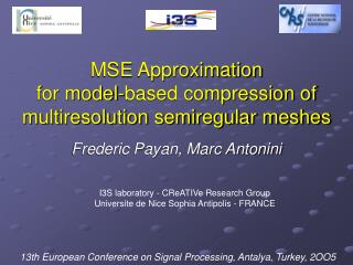 MSE Approximation for model-based compression of multiresolution semiregular meshes