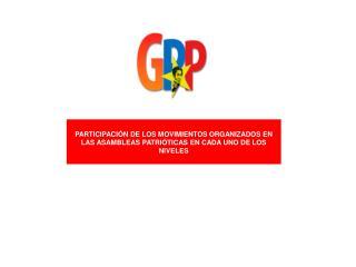 PROPUESTAS DE LAS VOCER�AS  PARA LA 1ERA. GRAN ASAMBLEA NACIONAL PATRI�TICA POPULAR DEL GGP