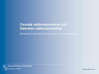 Oxunda vattensamverkan och  Edsviken vattensamverkan