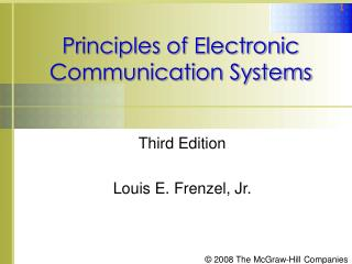 Principles of Electronic Communication Systems