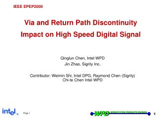 Via and Return Path Discontinuity Impact on High Speed Digital Signal