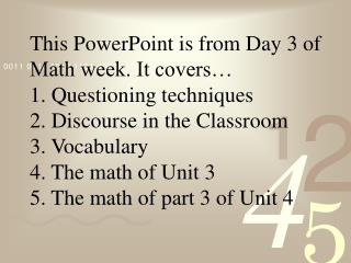 High School Math The Standards Based Way Day 3